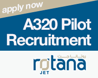 Rotana Jet A320 Pilot Recruitment
